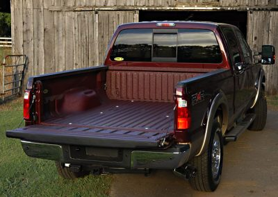 Truck Bedliner Sprayed With Line-X Polyurethane Protective Coatings