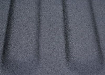 Closeup Truck Bedliner Sprayed With Line-X Polyurethane Protective Coatings