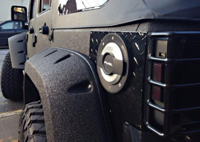 Jeep Bumpers Sprayed With Line-X Polyurethane Protective Coatings