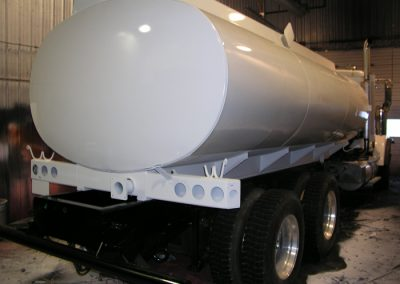 Oil Tanker Body Sprayed With Line-X Polyurethane Protective Coatings