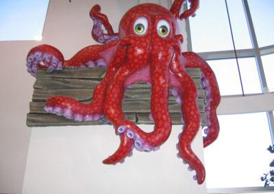 Styrofoam Octopus Sprayed With Line-X Polyurethane Protective Coatings